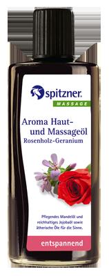 «Розовое дерево – герань» масло массажное